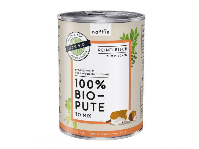Bio Hundefutter nass Pute naftie 400gr Reinfleisch
