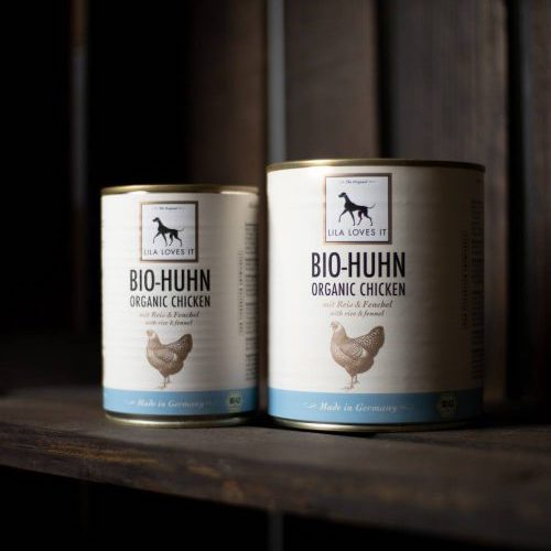 Bio Hundefutter Huhn Reis LILA LOVES IT